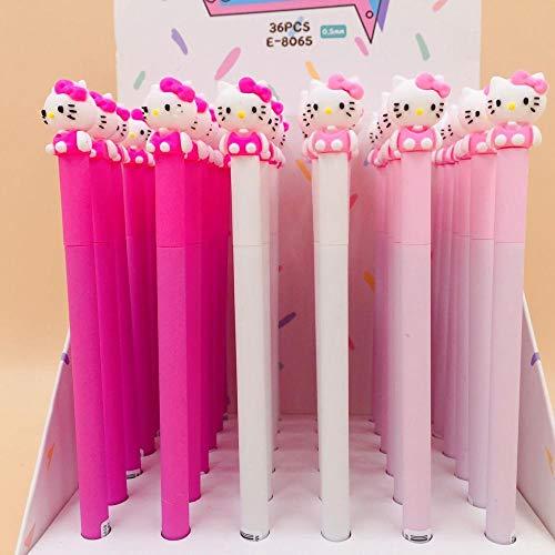Ink Pens - 3 pcs/lot Hello Kitty Princess Gel Pen Signature Pen Escolar Papelaria School Office Supply Promotional