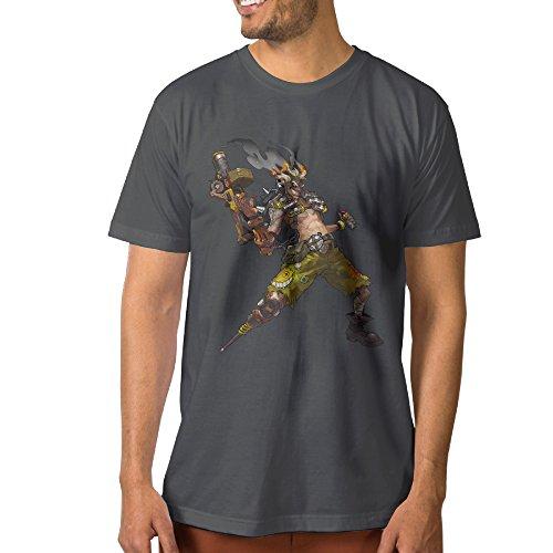 PTCYM Ow Junkrat Fashion Men's Tshirts L DeepHeather