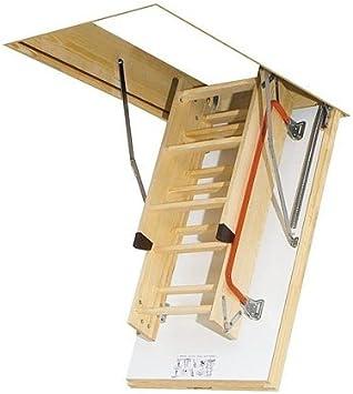 Optistep Ole madera plegable de madera Escalera para desván y trampilla 70 cm x 111 cm (cm) ático escaleras: Amazon.es: Bricolaje y herramientas