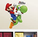 RoomMates RMK1918GM Ninetendo - Yoshi/Mario Peel & Stick Giant Wall Decals, 23'' x 32'', Multicolor