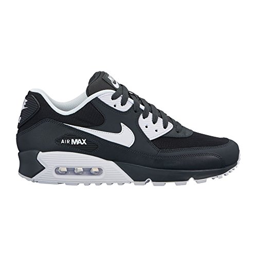 NIKE Mens Air Max 90 Essential Running Shoes Anthracite/White/Black 537384-089 Size 12