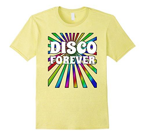 [Mens Disco Shirt Disco Forever 70's 80's Dance Neon Party Shirt XL Lemon] (80's Couples Halloween Costume Ideas)