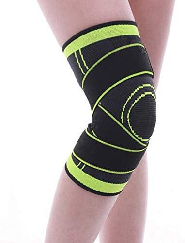 LilyAngel ニットの動き膝の圧力のサイクリングバスケットボールのフィットネスの通気性のある巻き上げ装置のメンテナンス1個 (Color : オレンジ, サイズ : L)