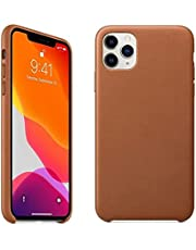 Leather Protective Cover For iPhone 12 Pro Max - Brown , 2725611168496