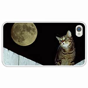 iPhone 4 4S Black Hardshell Case fence striped White Desin Images Protector Back Cover