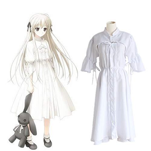 Bob 101 in Solitude Yosuga no Sora Kasugano Sora Lolita White Cosplay Dress (Yosuga No Sora Cosplay Costume)