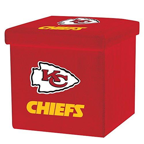 - Franklin Sports NFL Kansas City Chiefs Storage Ottoman with Detachable Lid 14 x 14 x 14 - Inch