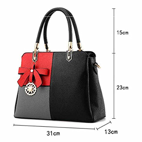 Red onesize Leather pink Shoulder Black G Bag Renhong Pu Gray Bag G Ladies Crossbody Casual Classic HqwaxPT