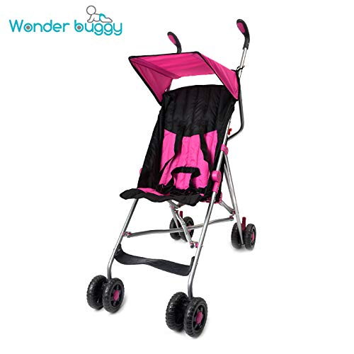(Wonder Buggy Taylor Two Position Stroller with Canopy, Pink, Large)