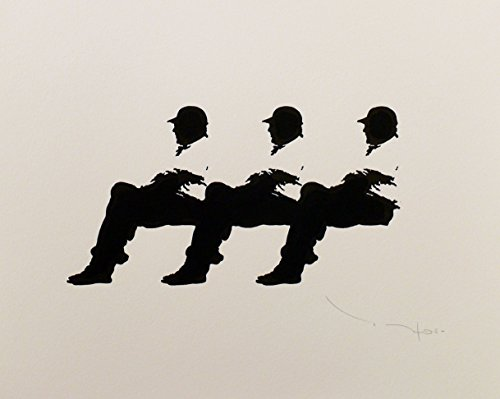 Tehos - Three men on a Bench 14 by
