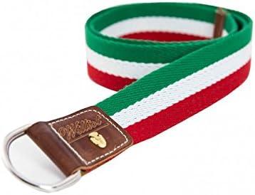 Cinturón Verde, Rojo y Blanco Hombre - Talla - 120: Amazon.es: Ropa y accesorios