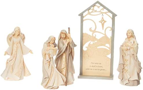 Enesco Foundations Christmas Nativity Scene Figurine Set of 5 , Multicolor