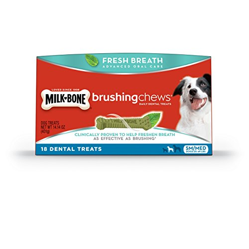 Milk-Bone Brushing Chews Fresh Breath Daily Dental Treats, Small/Medium, 14.4 Ounce, 18 Count