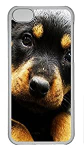 Shell Case for iphone 5C with The Little Black Dog DIY PC Transparent Hard Skin Case for iphone 5C