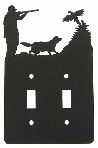 Pheasant Hunt & Setter Double Light Switch Plate Cover