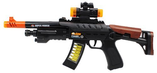 Flashing Panda AR15 Super Power LED Toy Machine Gun with Lights and Sounds]()