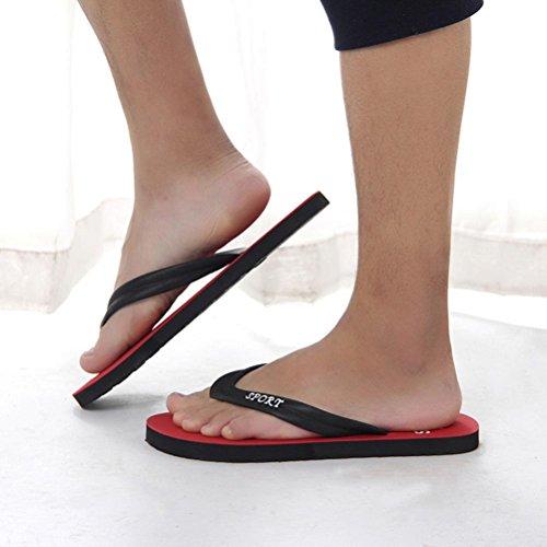 hunpta Men's Slipper, Men's Summer Flip-Flops Slippers Beach Sandals Indoor&Outdoor Leisure Shoes Red