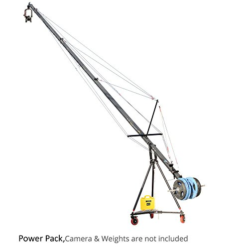 PROAIM Wave-5P 32ft/10m Camera Jib Crane Flight Production Package with Tripod Stand, Dolly, Pan Tilt & Zoom Control support weight up to 21kg/46lbs + Carrying Bag (P-W5P-FLT) by PROAIM