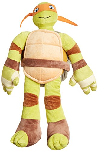 Nickelodeon Teenage Mutant Ninja Turtles Plush Stuffed Michelangelo Pillow Buddy-Kids Super Soft Polyester Microfiber, 24 inch (Official Product), C. Michaelangelo