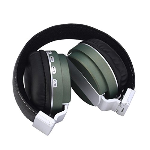 r-Ear Foldable Earphone Stereo Gaming Headset Multifunction Headphone For MP3, Mobile Phone, Computer 3.5mm&BT4.1 (Army Green) ()