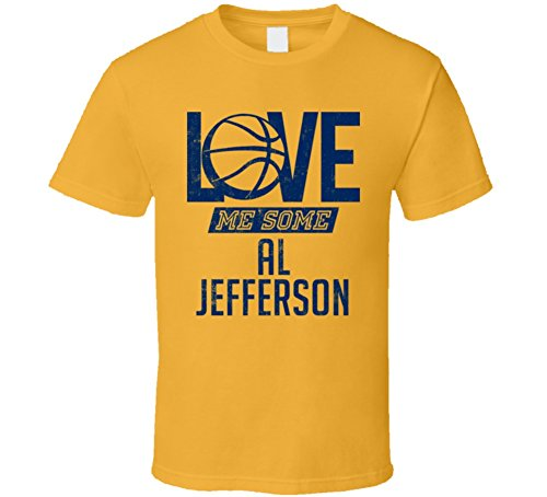 Love Me Some Al Jefferson Indiana Basketball T Shirt S Gold