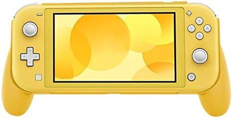 KEHUITONG ポータブルハンドヘルド保護ケースアンチスクラッチNintend用ハードABSカバープロテクターはLiteのハンドルホルダーグリップゲームを切り替え (色 : Yellow)