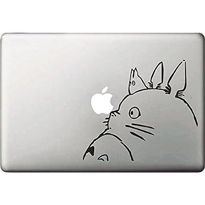"""Vati hojas desprendibles creativo Piel Gran Totoro Sticker Decal Arte Negro para Apple Macbook Pro Aire Mac 13 """"15"""" pulgadas / Unibody 13 """"15"""" pulgadas portátil"""