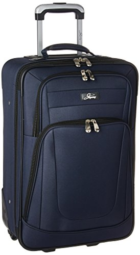 Skyway Luggage Epic 21 Inch 2 Wheel Expandable Carry On, Surf Blue, One Size
