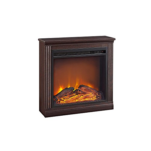 Ameriwood Home Bruxton Electric Fireplace,  Cherry (White Fireplace Wood Electric)