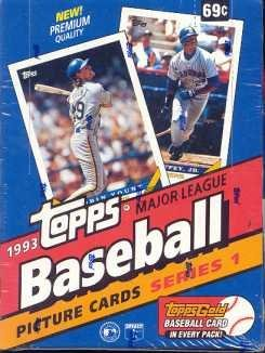 1993 Topps One Baseball Card Unopened Hobby Box Jeter Rc