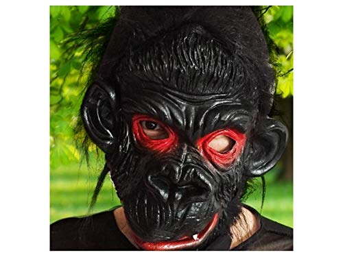 Yuchoi Funny Funny Latex Animal Mask Head Cover Scary Orangutan Mask Halloween Party (Black)