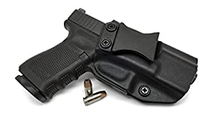 Concealment Express IWB KYDEX Holster: fits Glock 17/19/22/23/26/27/31/32/33/45 (Gen 1-5) (CF BLK, RH) - Inside Waistband Concealed Carry - Adj. Cant/Retention - US Made