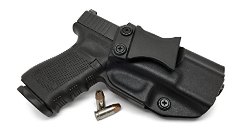 Concealment Express IWB KYDEX Holster: fits Glock 17/19/22/23/26/27/31/32/33 (Gen 1-5) - US Made - Inside Waistband Concealed Carry - Adj. Cant/Retention (BLK, Left) (Best Appendix Carry Holster)