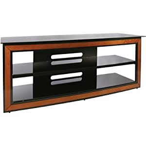 Bello Avsc 2126 Versatile Wood Trim Audio Video Furniture System Cherry Black