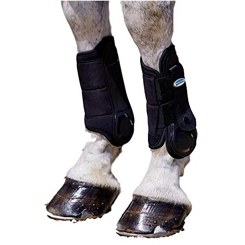 Weatherbeeta, Flexi Shell Front Cross Country Boots, Black - Fetlock Boots Fit