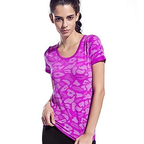 HWTP Camiseta de Yoga, Camiseta para Correr Transpirable ...