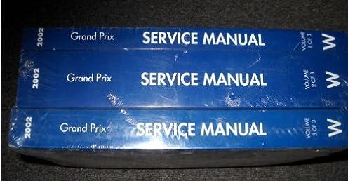 2002 pontiac grand prix service shop repair manual set 3 volume set rh amazon com pontiac grand prix repair manual free download 2008 Pontiac Grand Prix