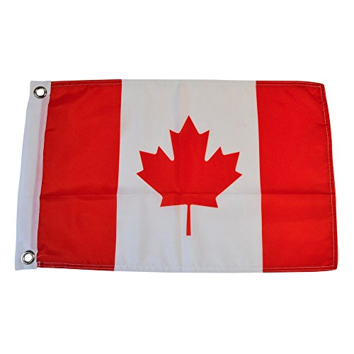 - Canada Canadian Polyester Country Flags Desk Outside Waving Parade (12 Inch x 18 Inch Grommet Flag)