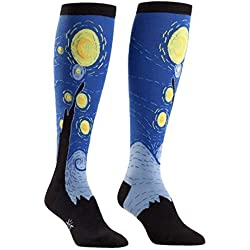 Sock It To Me Starry Night Knee High Sock (Blue) Size 5-10