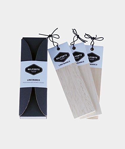 Belforte - plisada perfumadas para armarios y cajones - 3 piezas - Lino Blanco: Amazon.es: Belleza
