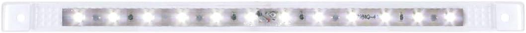 10-1//8 Ultra Thin 12 LED Bar GG Grand General 75961 Amber//Clear Marker Light