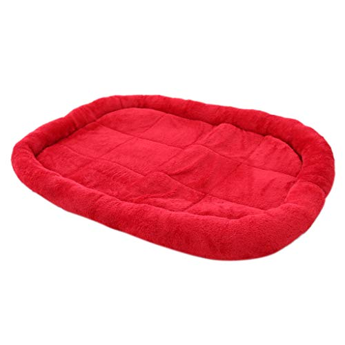 Blesiya Cama Mascotas Perros Gatos Cajones Esteras Complimentos Mascota Color Brillante Ecológico Duradero - Rojo, Tal como...