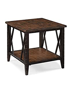 Magnussen T1908 Fleming Wood and Metal Rectangular End Table