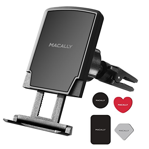 Macally Universal Magnetic Air Vent Mount Car Phone Holder w