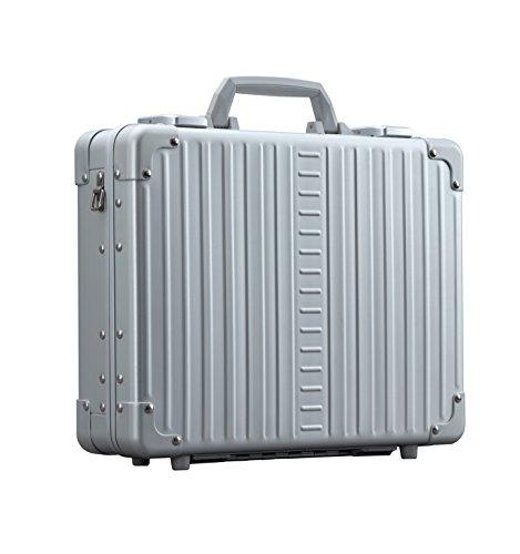 Aleon 15'' Business Attache Aluminum Hardside Business Briefcase (Platinum) Sliver by ALEON (Image #2)