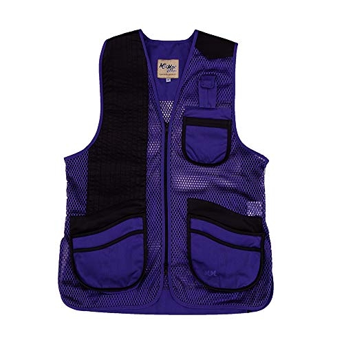 Ladies Leather Vest Genuine - Peregrine, MizMac Womens Mesh Vest, Genuine Leather Pad, Purple, Right Hand, Small