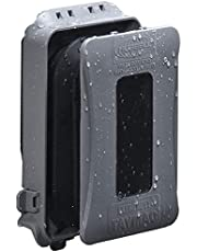 TayMac ML500 Single-Gang Mount 16-in-1 Flat Nonmetallic Weatherproof Vertical/Horizontal, 1-Pack, Gray