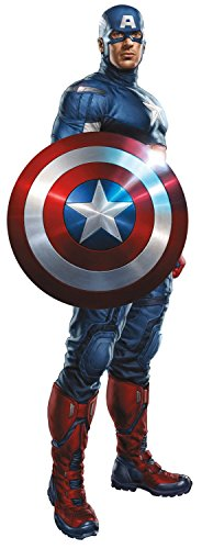 Marvel Superheroes Comic - The Avengers - Captain America Giant Wall Decal - Wall Fathead Sticker