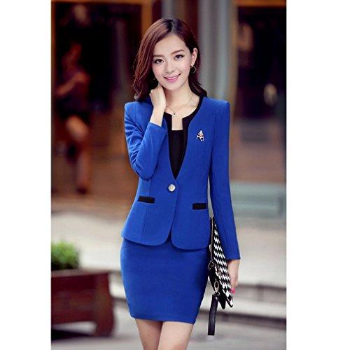 Belsen Traje Mujer Vestir De Para Azul Marino FFdqwr4