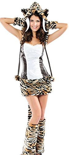 [IF FEEL Womens Sexy Halloween Masquerade Cosplay Animal Costume (L, LC8631)] (Sexiest Couple Halloween Costumes)